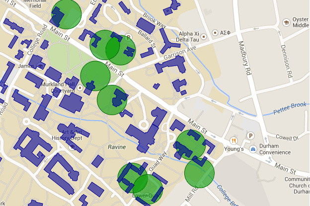 UNH Wireless Coverage Map
