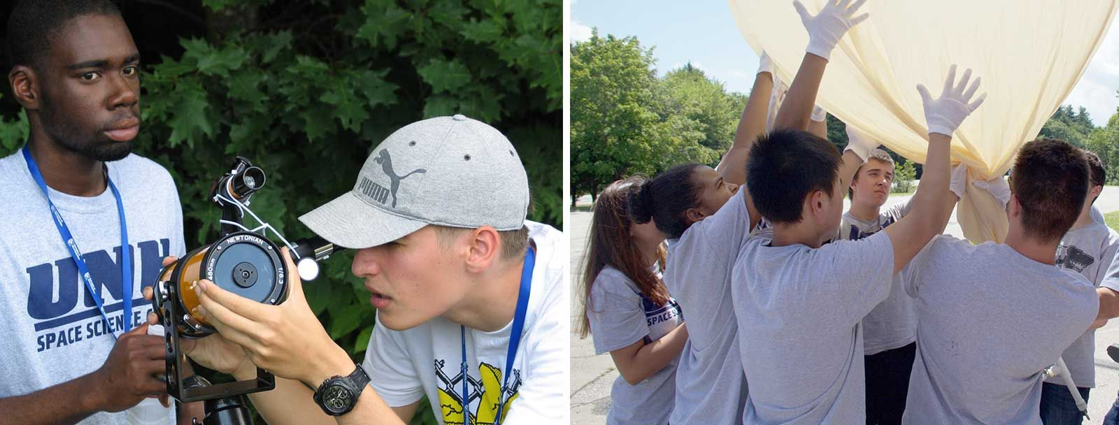 UNH Project SMART participants and their high-altitude scientific balloon