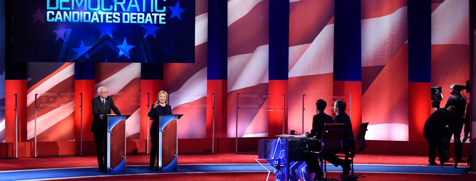 Democratic presidential candidates debate at UNH 2016