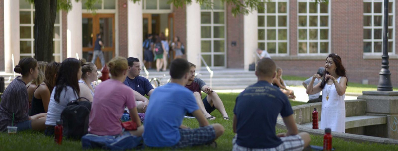 First day of classes at UNH Durham campus 2015