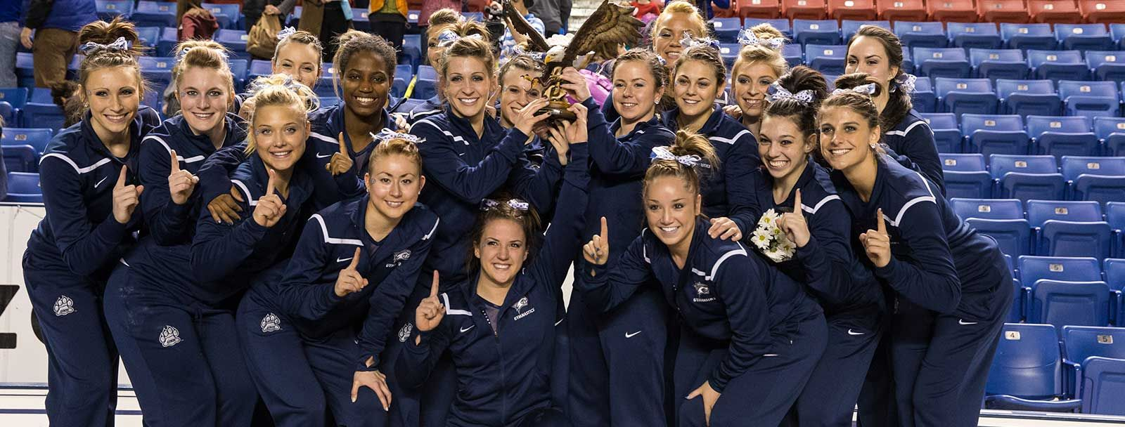 University of New Hampshire gymnastics team 2013-2014
