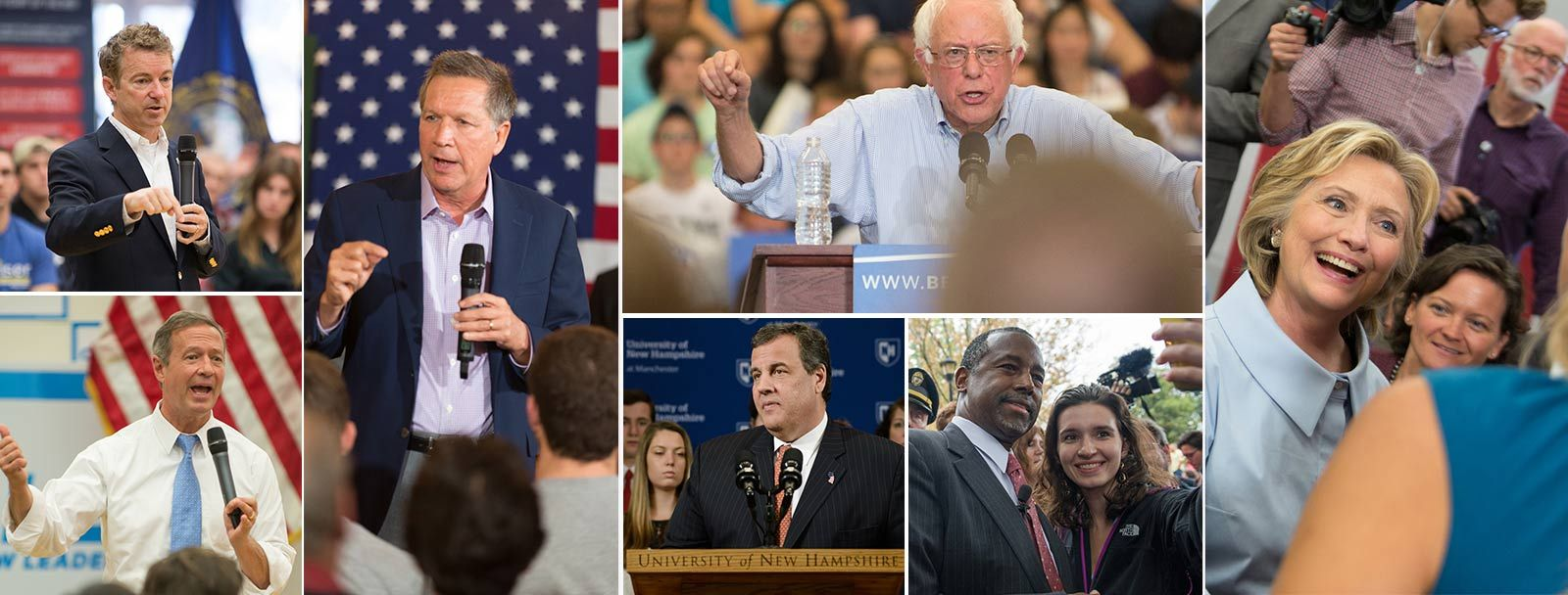 Presidential candidates on UNH campus 2016 election