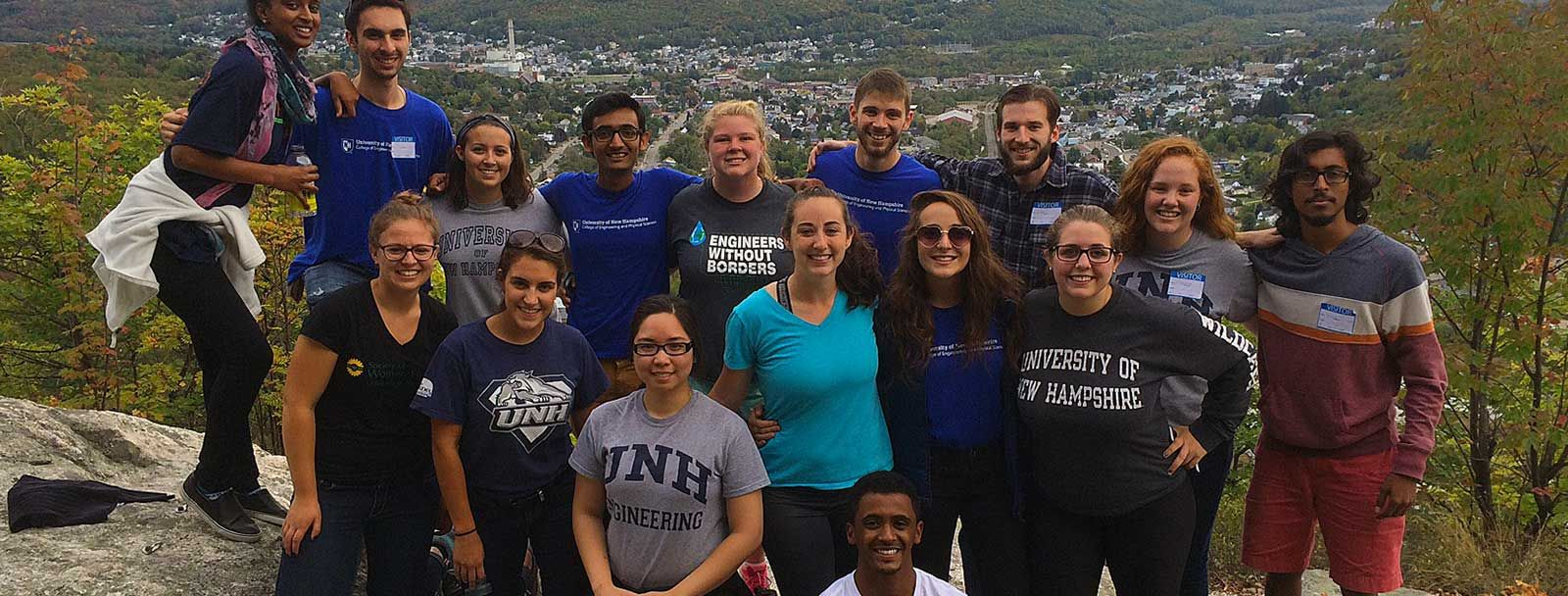 UNH engineering students above Berlin, N.H.