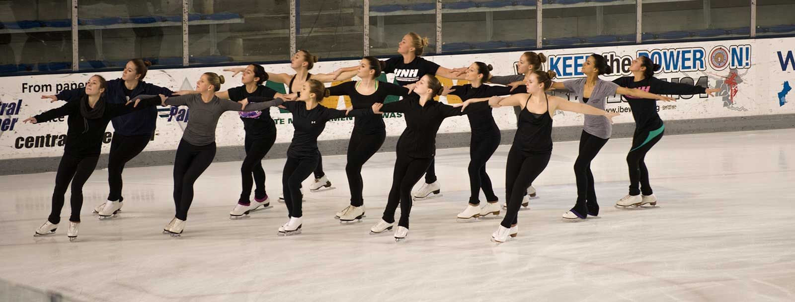 UNH synchronized skating team during recent practice