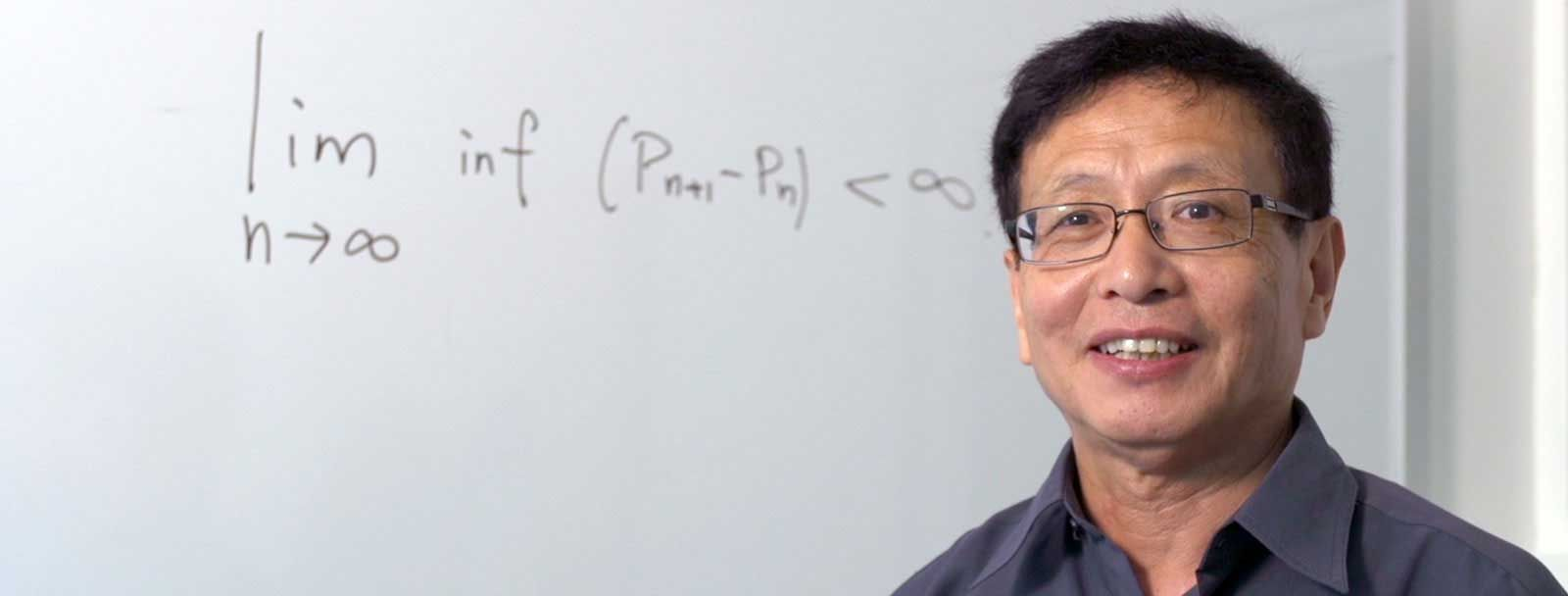 "UNH professor of mathematics and 2014 MacArthur Fellow Yitang ""Tom"" Zhang"