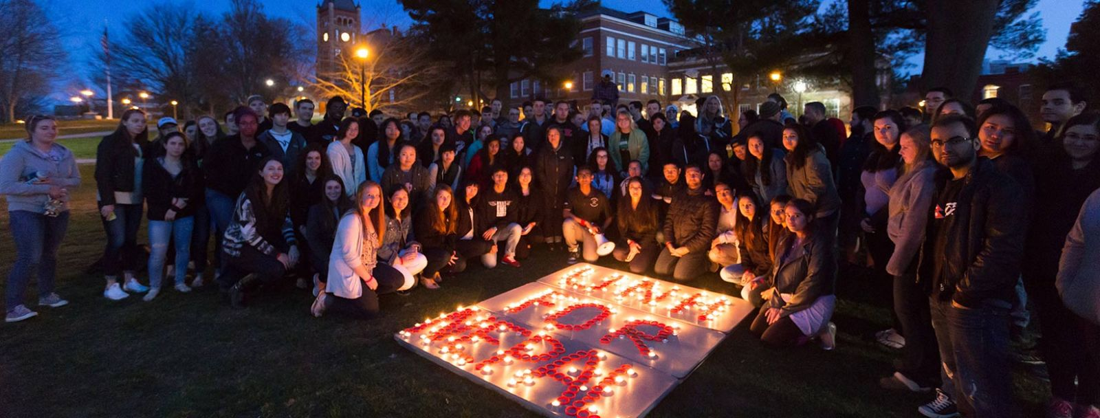Candlelight vigil for Nepalese earthquake victims and survivors at UNH