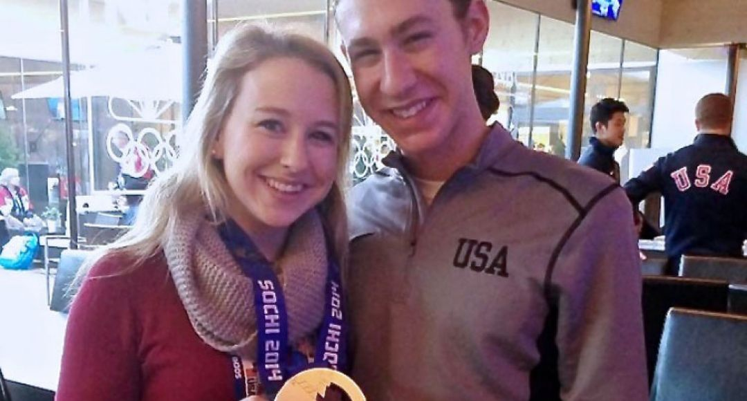 UNH alum with Olympian
