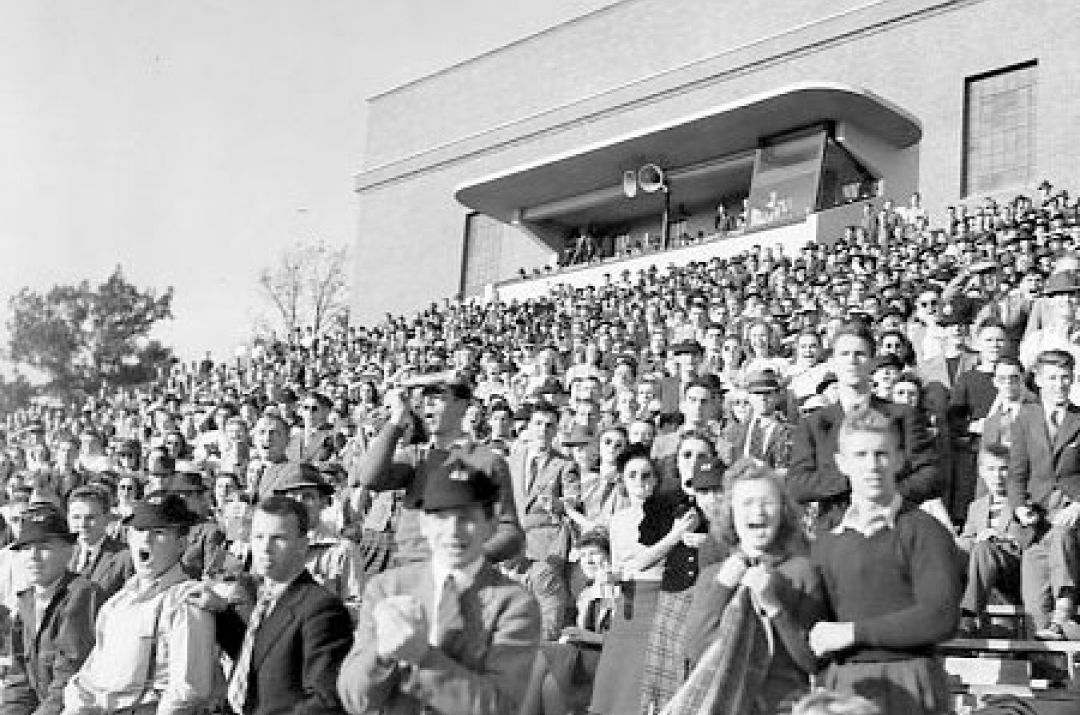 Football game in Cowell Stadium, 1939