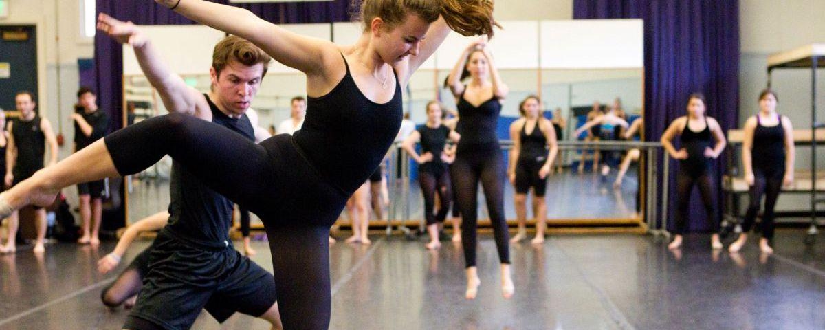 Ballet dancer practice