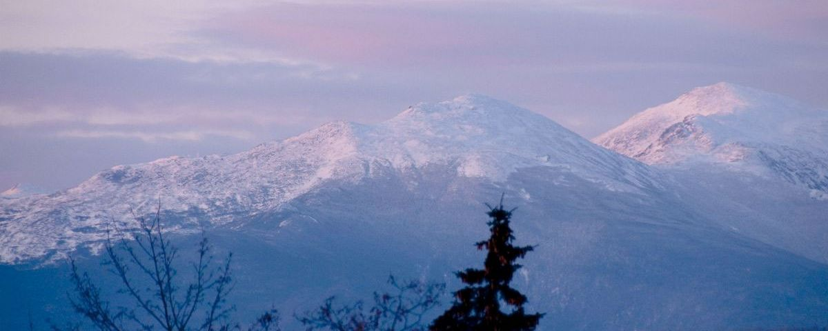 White Mountains in the winter
