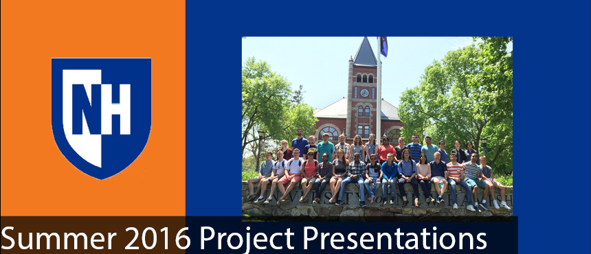 Summer 2016 Project Presentations