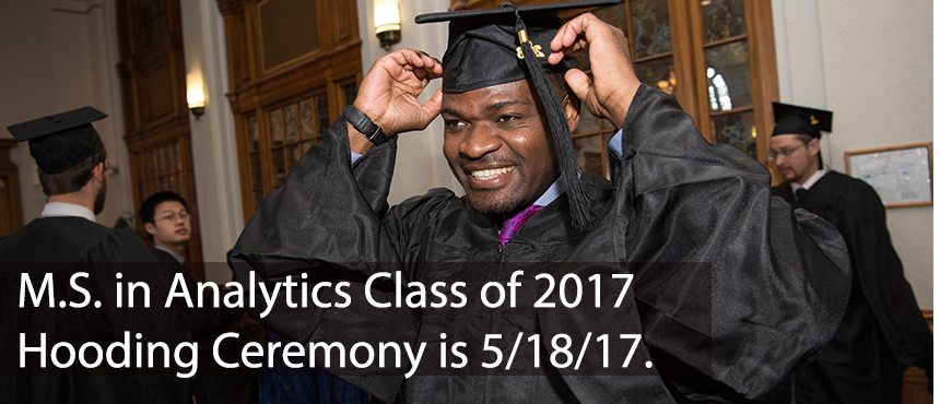 Hooding Ceremony is May 18, 2017