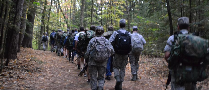 Warrior Challenge Lab - Rucking through College Woods