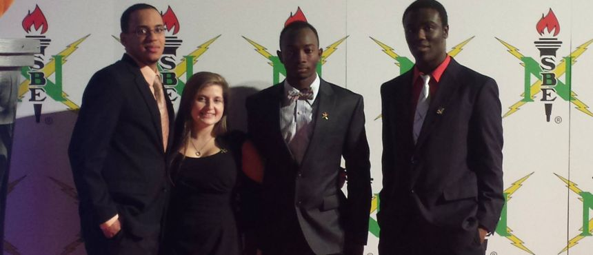 Steven, Eryn, Aboubacar, Tom at Nationals