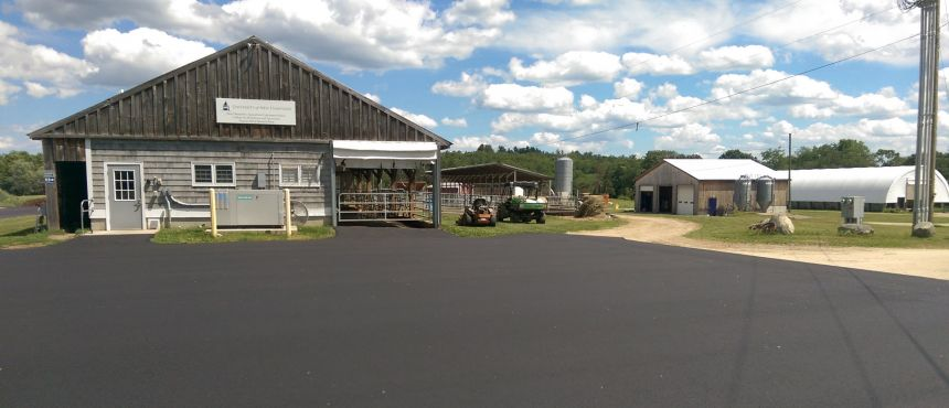 Burley-Demeritt Farm just received new paving