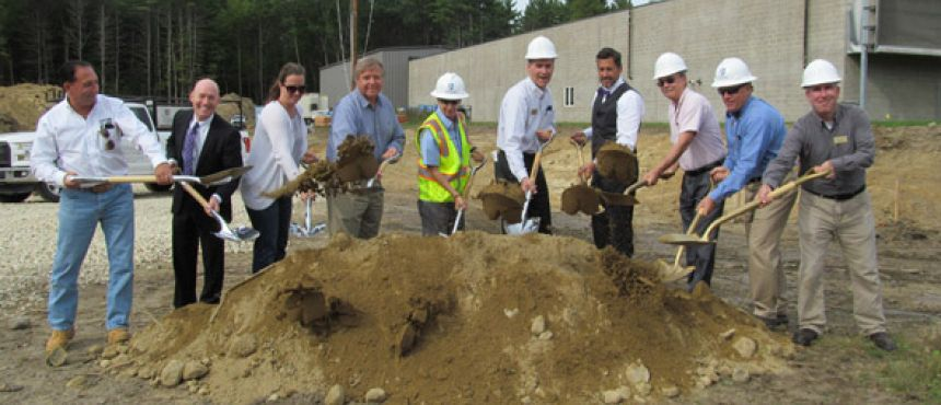 Groundbreaking for the new water treatment plant in partnership with the Town of Durham