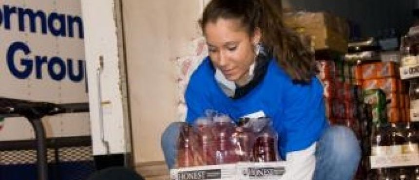 Extreme home makeover volunteer, UNH student