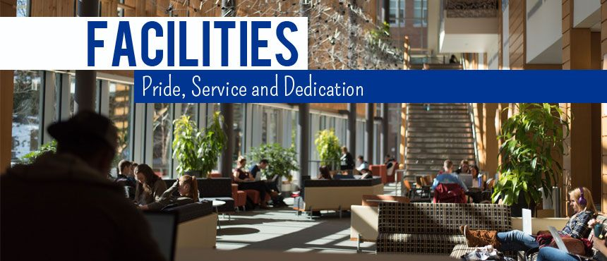 UNH Facilities - Pride, Service and Dedication (Photo of Paul College Interior)
