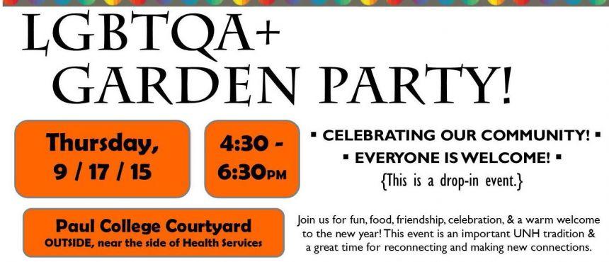 flyer garden party