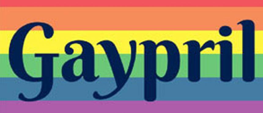 rainbow logo Gaypril campus pride month