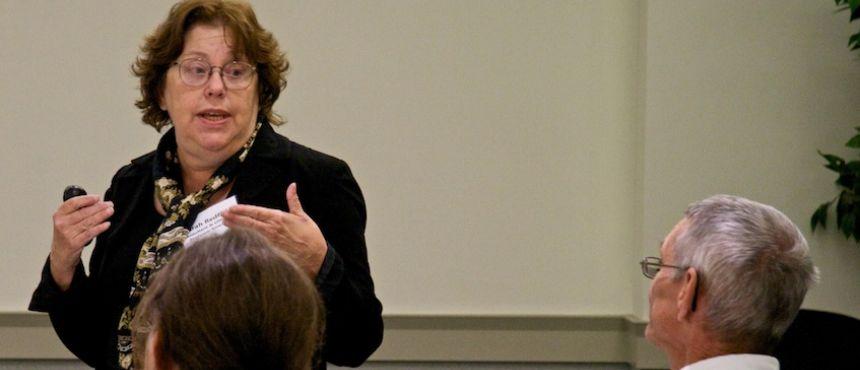 Sarah Redfield addressing REAL workshop attendees