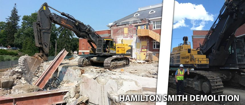 Hamilton Smith Demolition is underway