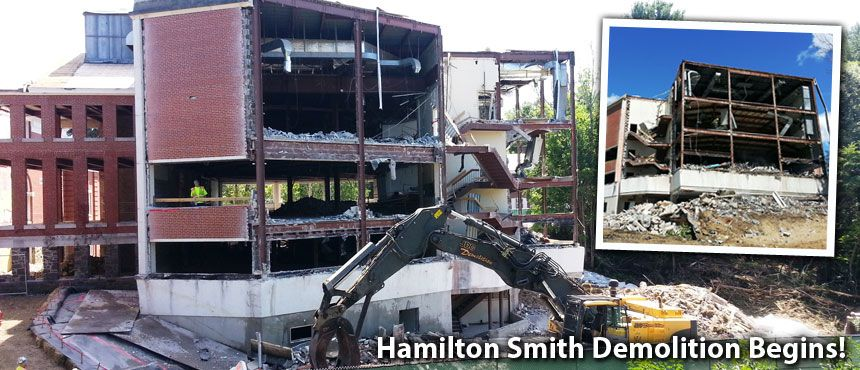 Hamilton Smith Demolition begins at UNH