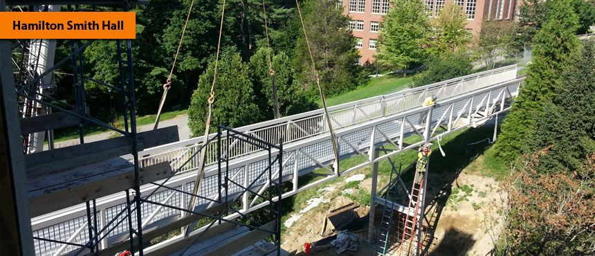 Hamilton Smith Hall Bridge Installation