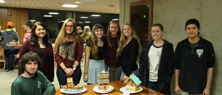 Winning teams at the First Annual Student Honors Council Gingerbread Competition