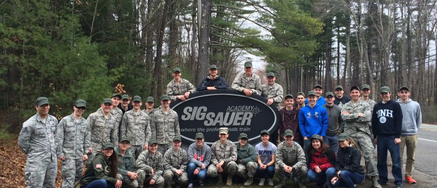 Cadets at Sig Sauer Academy for Weapons Orientation Lab