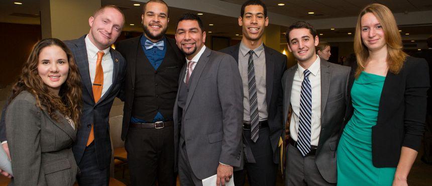 Students pose at The Washington Center