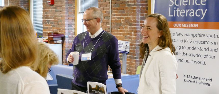 Mark Wiley and Lara Gengarelly at conference