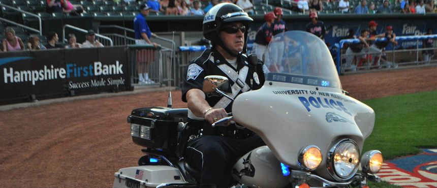 UNH Police at the NH Fishercats Law Enforcement Day