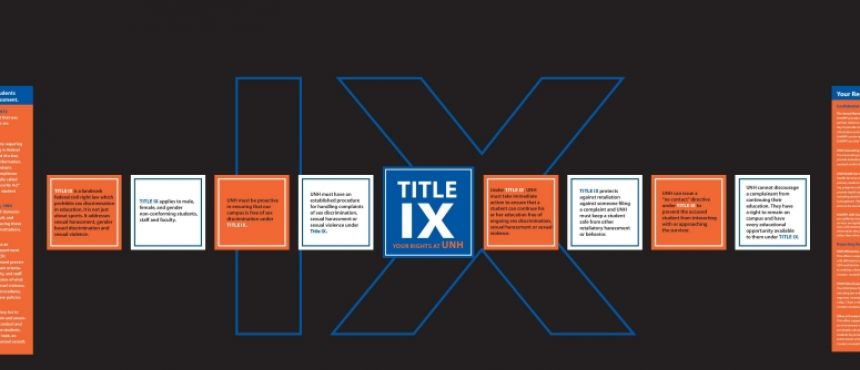 "This is an image of the ""MUB Wall"" informational display about Title IX."