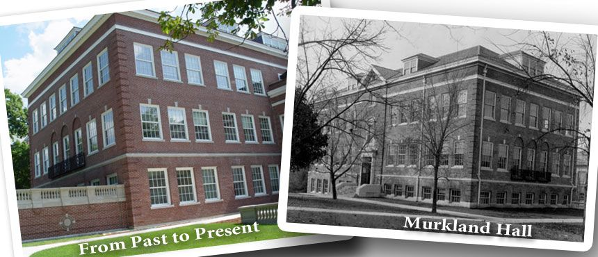 Murkland Hall, Now and then.  Black and White and Color