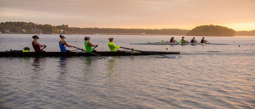 UNH crew practice at sunrise