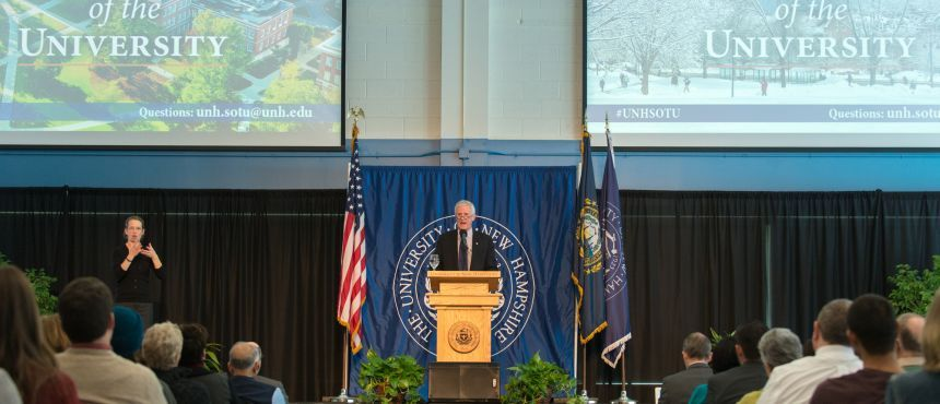 state of the university unh event