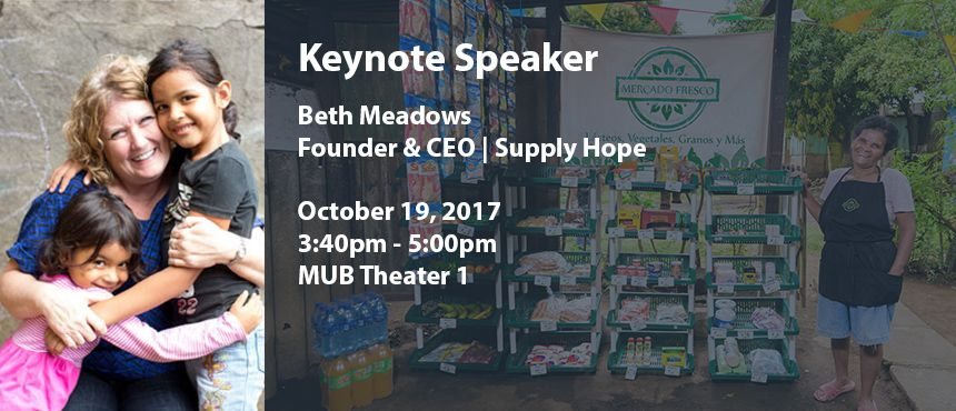 Join Beth Meadows of Supply Hope, who will speak about Mercado Fresco, which maks quality, affordable food accessible to low-income communities. https://www.unh.edu/social-innovation/event/mercado-oct-2017