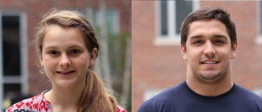 Photo of Lilian Stewart (left) and Kyle Reisert (right)