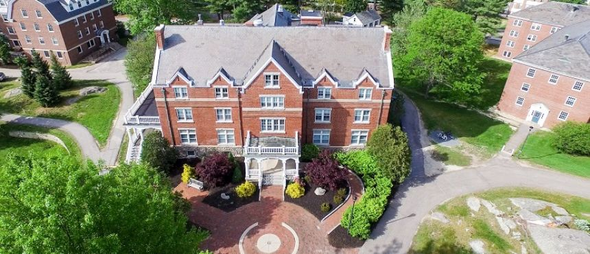 Aerial view of Smith Hall, the home of CFAR