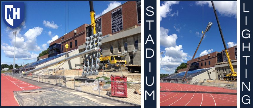 Photos of lights at Cowell Stadium
