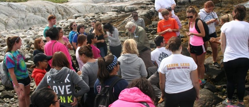 Photo of Connect STEM 14 students at Isle of Shoals