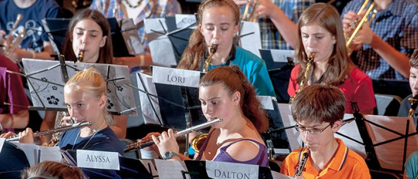 Image of SYMS, Summer Youth Music School rehearsal