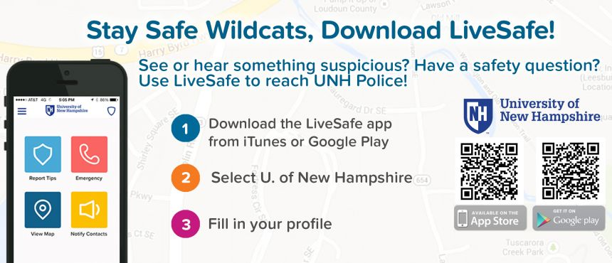 UNH Police and the Live Safe App