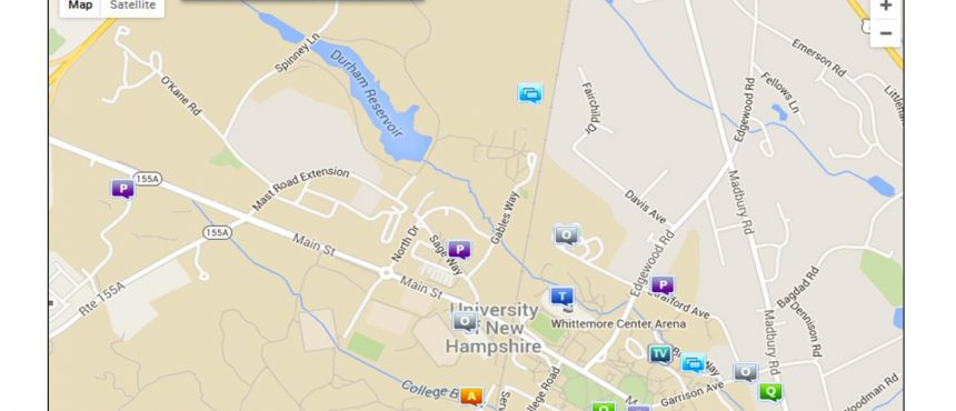 Map of Crimes Reported to UNH Police