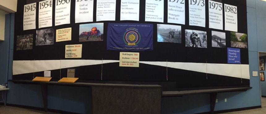 Vietnam Wall display at UNH Memorial Union