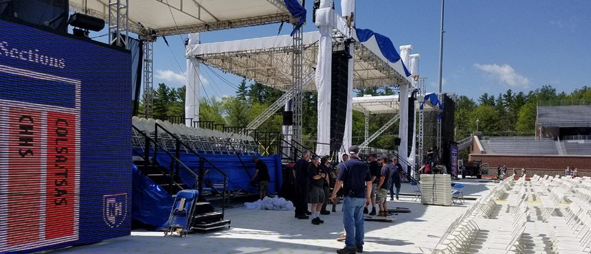 Facilities Grounds and Events setting the stage for Commencement 2017