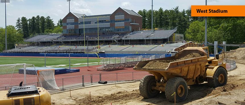 west stadium construction