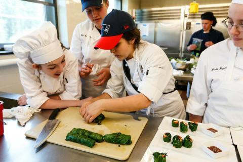 Students participating in New Hampshire Farm to School Cook Off