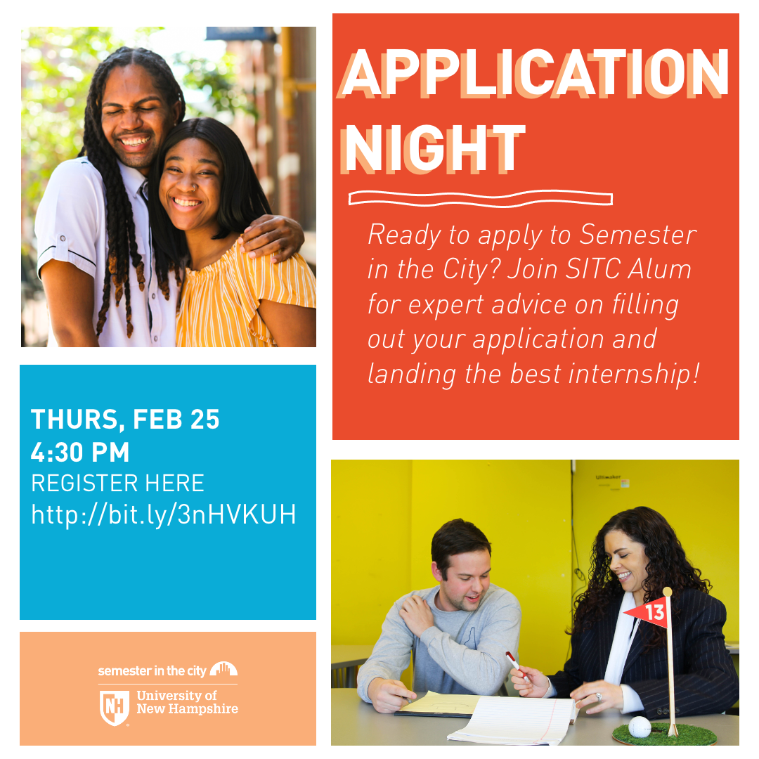 Semester in the City: APPLICATION NIGHT